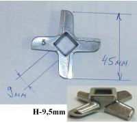 Нож для мясорубки B-45mm (9x9), H-9.5mm, зам. N431, Philips - 420306564080 (BOSCH-00020468, 620949, 028887) MM0102W
