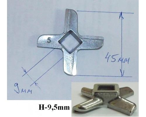 Нож для мясорубки B-45mm (9x9), H-9.5mm, зам. N431, Philips ...