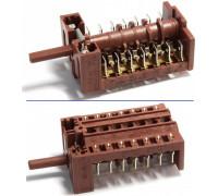 Переключатель духовки GOTTAK-8706271 7-поз., шток-23mm. 16(4)A 250V, 10(2)A 400V. NARDI 040899008833, 040899009933R, 26ME0237, D057077 COK300ND