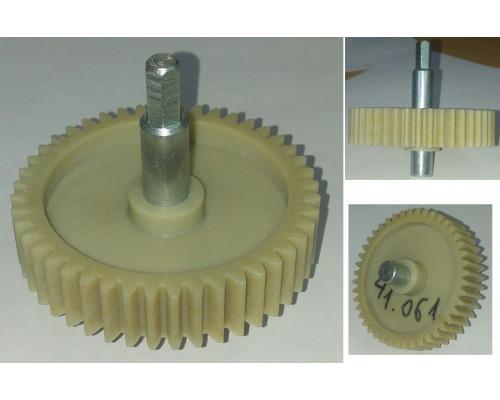 Шестерня с метал.валом шестигр.-8mm, D=78/19/12mm, H73/35/17...