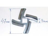 Нож для мясорубки PANASONIC, VITEK (посадка 9mm, h-4.5mm), зам. N435 , MGR105UN, MGR100BR MM0108W