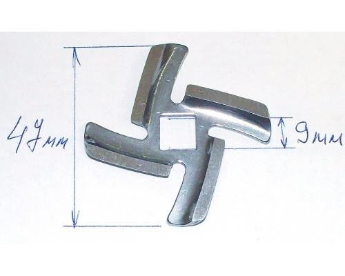 Нож для мясорубки PANASONIC, VITEK (посадка 9mm, h-4.5mm), з...