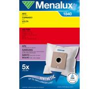 Мешки Menalux 1840, Синтетические, для пылесоса AEG, Samsung, LG. (5-пылесборников +1-моторный фильтр.) Суперпрочные - ресурс на 50% больше. 9001961953