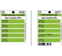 Жиклеры комплект (5шт.) ZANUSSI 6MB-GPL (0.4, 0.55, 0.65, 0.75, 0.90), зам. Wo406 Wo407