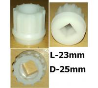 Втулка шнека мясорубки Bork, Vitek, Skarlett, Redmond RMG-1203-8 (отв.-10x10mm), зам. VS032, RD008, 00604477, (40.05-VIT) MM0326W