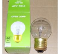 Лампочка духовки E27-40W-300° DIAM.45mm, 33CU102 33CU502
