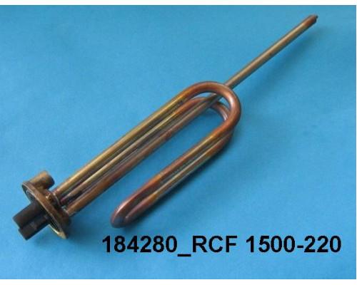 Тэн для водонагревателя 1500w-220v RCF TW PA анод-M6 (под фл...