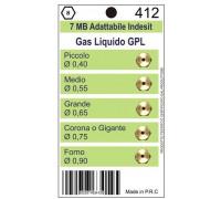 Жиклеры комплект (5шт.) 7MB-GPL (0.40, 0.55, 0.65, 0.75, 0.90) Wo412