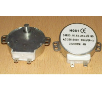 Мотор вращения тарелки СВЧ, AC220-240V, 4W; 2.5/3 R.P.M, шток-10мм, зам. 49010709 H081