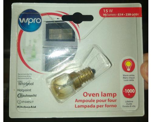 Лампочка духовки E14 15w 300, замена C00314888, 484000000984...
