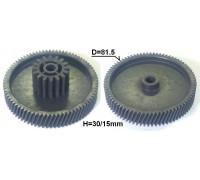 Шестерня мясорубки D=81.5/31.5mm, H30/15, отв.8, зуб-78/16шт.(Косой/прямой) Panasonic/Polaris z41.062-PN