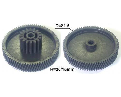 Шестерня мясорубки D=81.5/31.5mm, H30/15, отв.8, зуб-78/16шт...