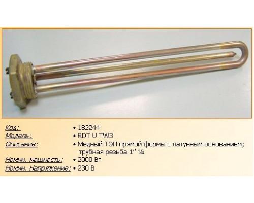 """Тэн для водонагревателя 2000w-220v RDT TW3 U, (резьба 1""""1/4,..."""