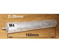 Анод магн.D26 L160mm M4x10mm 16an11