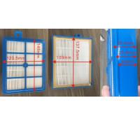 Фильтр пылесоса HEPA H12 (109x138x24mm) Electrolux Philips Bork зам. EFH12w VAC300ZN VC0936W