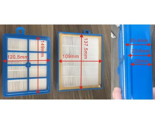 Фильтр пылесоса HEPA H12 (109x138x24mm) Electrolux Philips B...