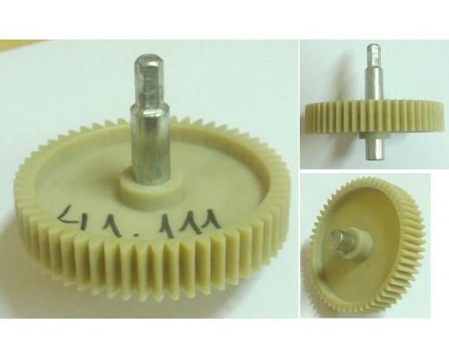 Шестерня с метал.валом шестигр.-8mm, D=86/20/12mm, H73/34/17...