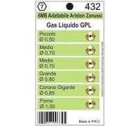 Жиклеры комплект 6MB-GPL (0.50, 0.7-2шт, 0.8, 0.85, 1.00) Wo432