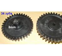 Шестерня мясорубки Ротор, черная, D=72mm, H=25, пр.зубья 34 (квадрат 8mm) SRT071