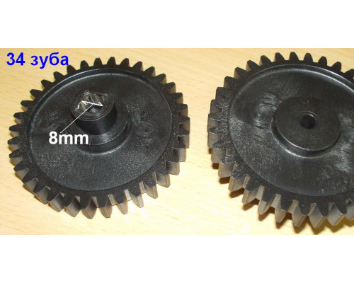 Шестерня мясорубки Ротор, черная, D=72mm, H=25, пр.зубья 34 ...