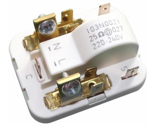 Реле компрессора SECOP 103N0021, клемма 4,8mm. 220/240V - 25...