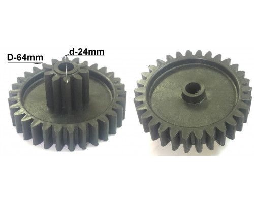 Шестерня Vitek/Elenberg/Polaris, D=64/24mm, H30/13, отв.8mm...