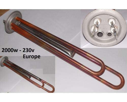 Тэн для водонагревателя RF-64 2000w-230v, M6 (МЕДЬ) ТЕРМЕКС-...
