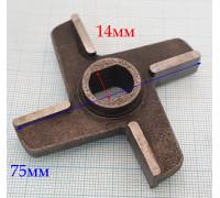 Нож 2-х сторонний №764 с буртом MiM300-01