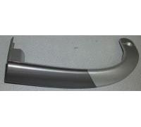 Ручка двери ХК (верхняя левая) СЕРЕБРИСТАЯ вставка глянцевая, зам.b4326380800 b4326381001