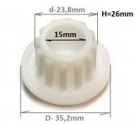 Втулка шнека Zelmer/Philips (861203), зам. ZL009 , 420306564070, 9999990040, PH002, MM0332W MGR005UN