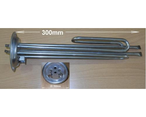 Тэн для водонагревателя 1000w+1500w (фланец 92mm, анод M6) K...
