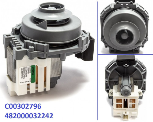 WASH MOTOR/PUMP 60w 220-240V(45CM) + SEAL, зам.272798...