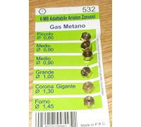 Жиклеры комплект (6шт.), 6MB-metano (0.8, 0.9-2шт, 1.0, 1.3, 1.45), зам.Wo525 Wo532