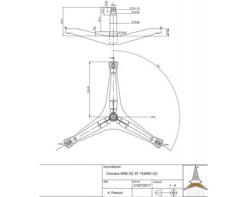 Крестовина барабана SAMS DC97-14369D...