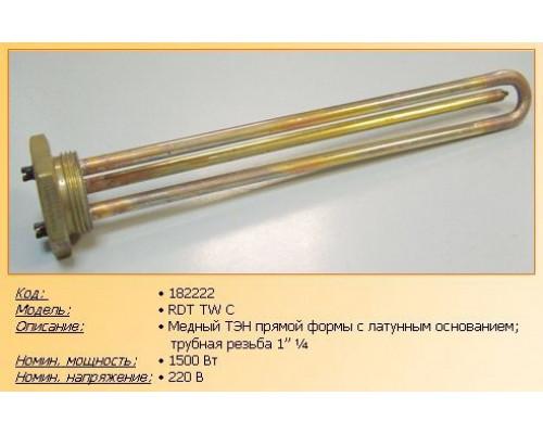"""Тэн для водонагревателя 1500w-220v RDT TWC, (резьба 1""""1/4, L..."""