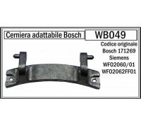 Петля люка СМА Bosch-00171269, зам. DRH000BO, Bo6203, 74BS002 WB049