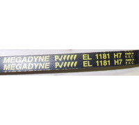Ремень 1181 H7_EL <1145mm> черн. Megadyne, зам. 16cn03 WN716