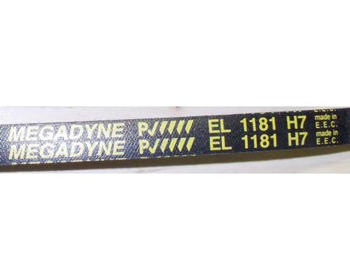 Ремень 1181 H7_EL <1145mm> черн. Megadyne, зам. 16cn03...