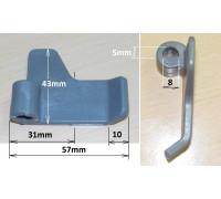 Лопатка хлебопечки LG (не оригинал) термопластик, зам. LG3300b, 5832FB3300B BM0201W