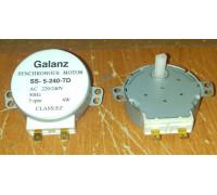 Мотор вращения поддона СВЧ Galanz SS-5-240-TD, 5RPM 4W H=12mm пластиковый шток MM240V04