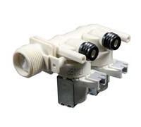 Электроклапан  заливной для стиральной машины INDESIT, ARISTON, HOTPOINT, STINOL (под фишки), оригинальный код: WE400, альтернативные коды:  110333. 62AB019, VAL021ID, 097340, 092177, 097624, 096877, 093843, 111813, 097792 ЭК-12