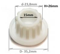 Втулка шнека Zelmer/Philips  ZL009 , 420306564070, 9999990040, PH002, MM0332W