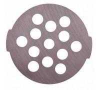 Решетка для мясорубки   MOULINEX.TEFAL  Размеры: диаметр - 54 мм толщина - 3,5 мм посадочное место - 7 мм размер отверстий - 7,5мм Оригинальный код: SS-989494 MS-5775632 SS-192247 SS-192247