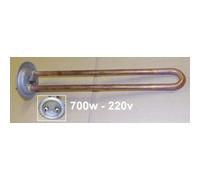 """Тэн для водонагревателя""""ИТА"""" RF64 0,7 кВт.(медн.) M4 под анод  (L-250мм, фланец 64 мм.) Универсальный Тэн для водонагревателя для плоского водонагревателя) оригинальный код 3401335 ТВН-02"""