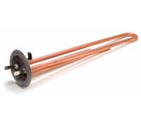 """Тэн для водонагревателя """"ИТА"""" RF64 1,3 кВт.(медн.) M4 под анод  (L-250мм, 2 трубки для термостата и термозащиты) (фланец 64 мм. оригинальный код: WTH002TX, альтернативные коды: 066057, 3401334, 182501, WTH012TX, TM13983 ТВН-01"""